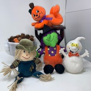 Four Halloween Plush Buddies 🎃 👻